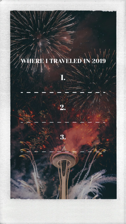 New Year Instagram Story Maker with Travel Goals 1856a