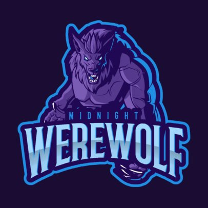 Gaming Logo Maker with a World of Warcraft Inspired Werewolf Illustration 2613j