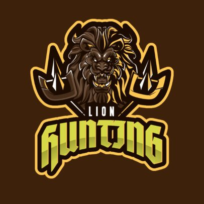 Gaming Logo Generator Featuring a Lion Graphic Inspired in World of Warcraft 2613m