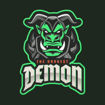 eSports Logo Maker with a Demon Character Inspired by WoW 2613p