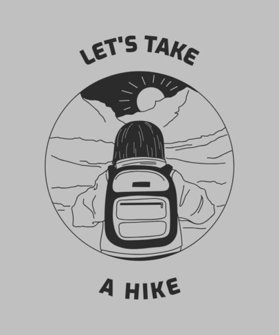 T-Shirt Design Template for Hikers 1847b