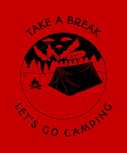 T-Shirt Design Template for Camping Enthusiasts 1847d