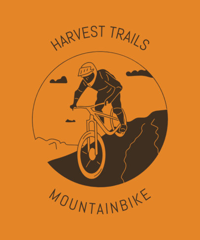 T-Shirt Design Creator for MTB Fans 1847g