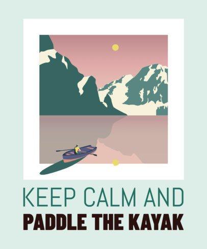 Outdoor Hobbies T-Shirt Design Template for Kayak Enthusiasts 1849f