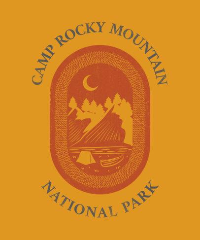 Hobbies T-Shirt Design Creator with a National Park Illustration 1848f