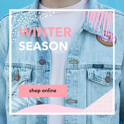 Ad Banner Maker for a Winter Season Sale with a Minimalistic Frame 268f 1886