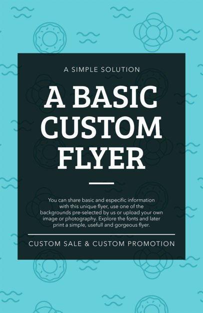 Customizable Flyer Template with Creative Patterns 1892