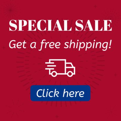 Online Banner Maker for a Special Sale Featuring a Fireworks Graphic 16612i-1866