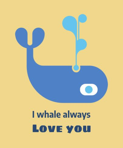 Cool T-Shirt Design Maker Featuring a Whale Illustration 1517i 13-el