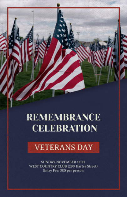 Flyer Maker for a Veterans Day Remembrance Event 1803d