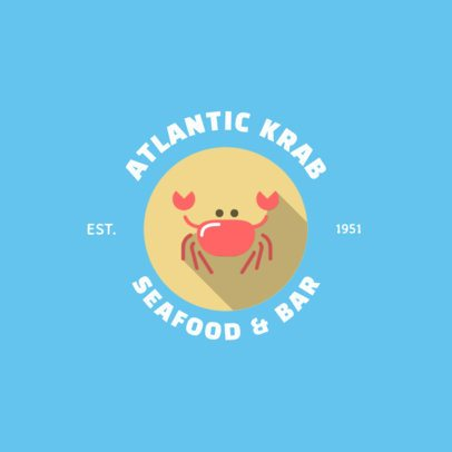Illustrated Online Logo Template for a Seafood Bar 1758f 1-el