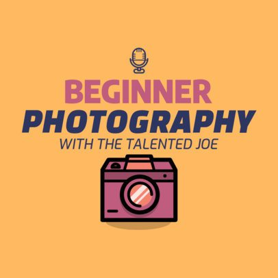 Photography Podcast Cover Generator Featuring a Camera Illustration 1498f 24-el