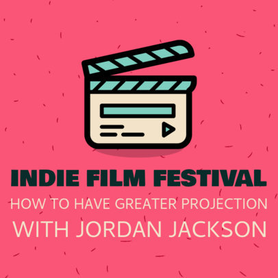 Podcast Cover Maker for Film Festival Organizers 1494g 24-el
