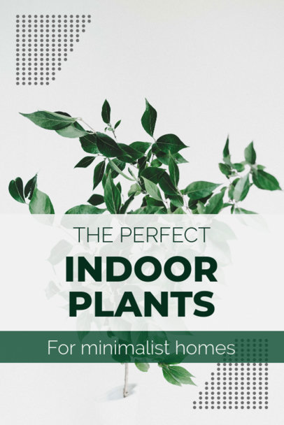 Nature Pinterest Pin Template with an Image of Plants 1885g