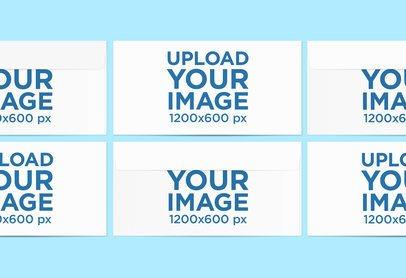 Mockup Featuring Several Envelopes Aligned over a Solid Color Surface 779-el