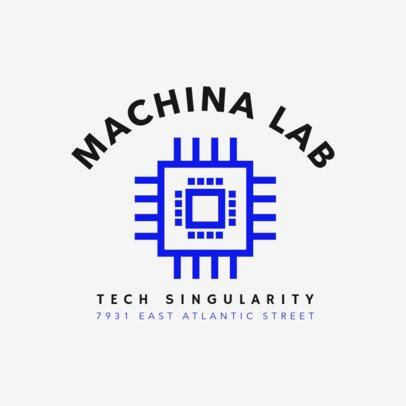 Logo Generator for a Tech Enterprise with a Chip Illustration 2175f 30-el