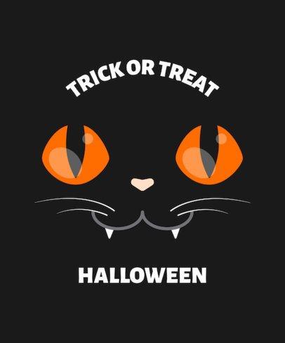 Halloween T-Shirt Design Template Featuring Cute Monster Faces 1878