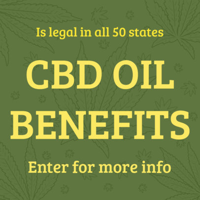 Twitter Post Template for a Tweet About Legal CBD 16613i - 1898