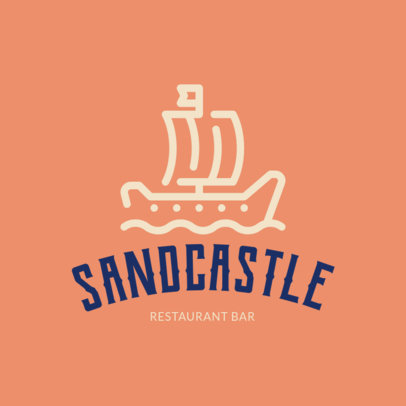 Beach-Allusive Logo Maker for a Restaurant Bar 1760h 56-el