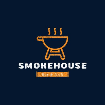 Restaurant Logo Maker with a Graphic of a Grill 1227f-el-45