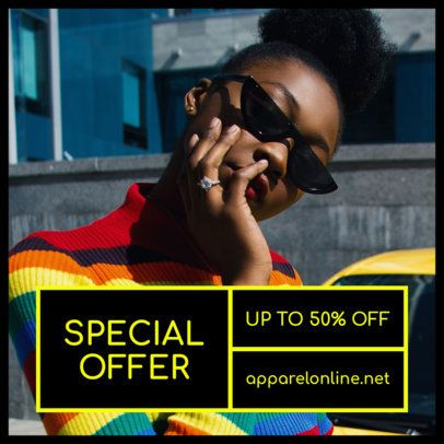 Instagram Post template for a Special Fashion Sale 1101i-1883