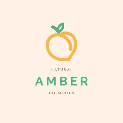 Beauty Logo Maker Featuring a Peach Icon 2213h-41-el
