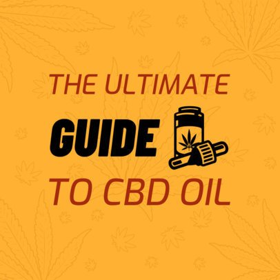 Social Media Post Template About a CBD Oil Guide 1895a