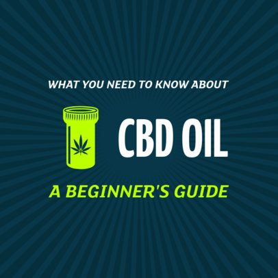 CBD Oil Guide Social Media Template 1895b