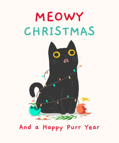 T-Shirt Maker with Funny Animals in Christmas 1879