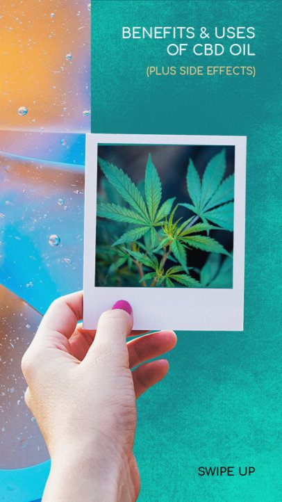 Modern Instagram Story Template for Marijuana Benefits 945f-1889