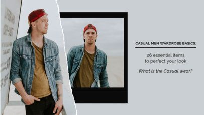 Collage-Style YouTube Thumbnail Maker for Masculine Casual Outfits 1902c