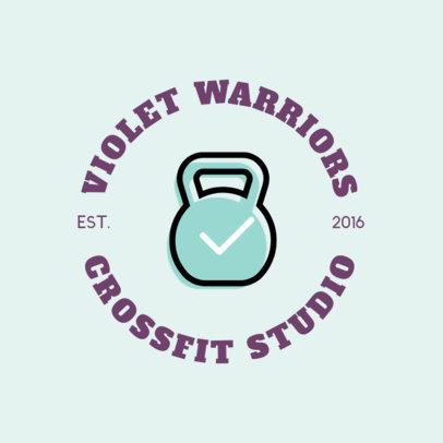 Crossfit Gym Logo Maker for a Fitness Club 1273g 28-el