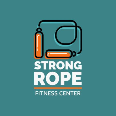 Fitness Center Logo Template Featuring a Jumping Rope Clipart 1347i 28-el
