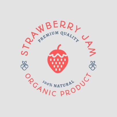 Organic Product Logo Maker for a Strawberry Jam 1287g 53-el