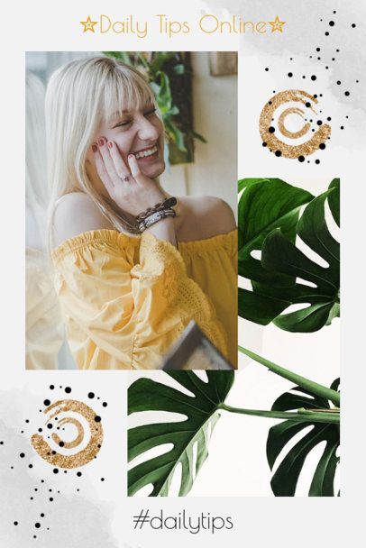 Trendy Pinterest Post Template in a Collage Style 1901a