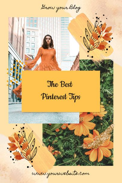 Pinterest Post Template for a Fall-Themed Collage 1901b
