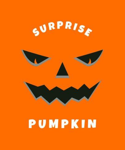 Halloween-Themed T-Shirt Design Template Featuring an Angry Pumpkin 1878b