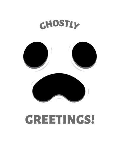 T-Shirt Design Maker Featuring a Halloween Ghost Face 1878g
