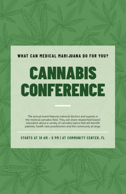 Flyer Template for a Cannabis-Related Conference 1892b