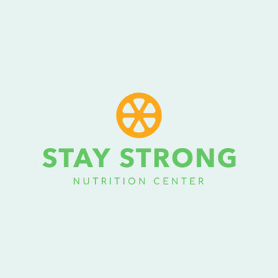 Simple Online Logo Template for a Nutrition Center 1180f 53-el