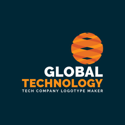 Technology Company Logo Maker with an Abstract Globe Icon 2173k-2585
