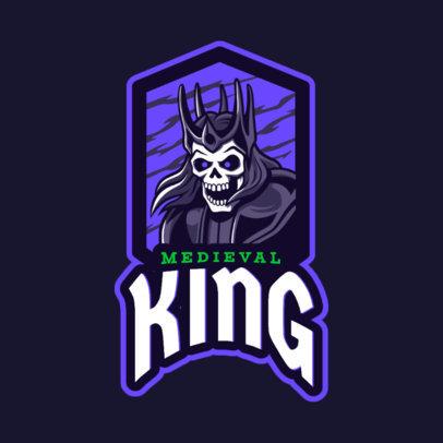 Gaming Logo Maker Featuring a King Skeleton 2620