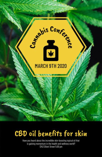 Flyer Maker for a Cannabis Conference 1893f