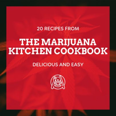 Instagram Post Template with Marijuana Recipes 1891b
