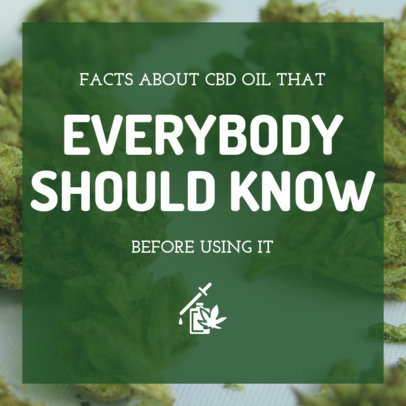 Instagram Post Maker on Facts About CBD Oil 1891e