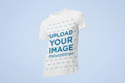 Ghosted Mockup of a Crew Neck T-Shirt for Men 29347