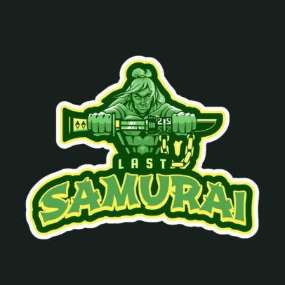Logo Maker with a Samurai Illustration Inspired By League of Legends 2619p