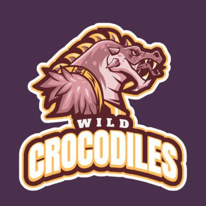 Gaming Logo Maker Featuring a Crocodile Character Inspired by LOL 2619m