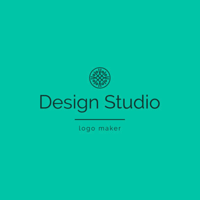 Logo Maker for a Designer Studio with an Abstract Icon 1330k-2618