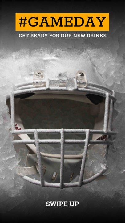 Instagram Story Maker Featuring a Football Helmet 598i-1926